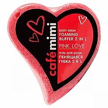 Düfte, Parfümerie und Kosmetik 2in1 Duschgel-Schaumschwamm Rosa Liebe - Cafe Mimi Body Wash Foaming Buffer 2 in 1 Pink Love