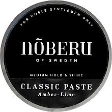 Düfte, Parfümerie und Kosmetik Modellierende Haarpaste mit Amber und Limette Mittlerer Halt - Noberu of Sweden Classic Paste Amber Lime