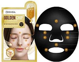 Düfte, Parfümerie und Kosmetik Aufhellende Anti-Falten Tuchmaske mit Akupressurpunkten - Mediheal Gloden Chip Circle Point Mask