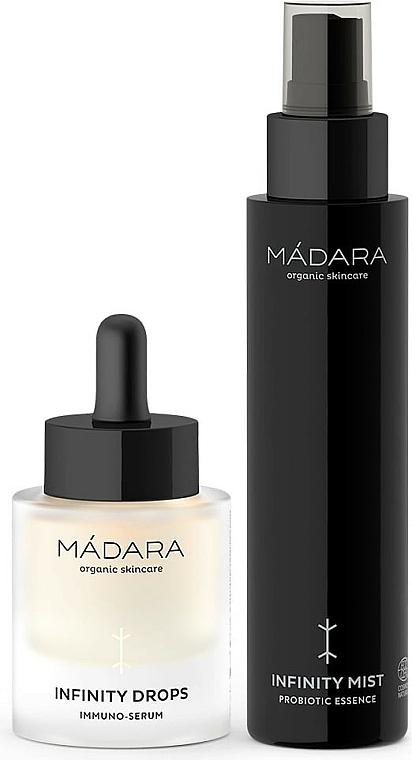 Gesichtspflegeset - Madara Cosmetics Infinity Care System (Feuchtigkeitsspendender probiotischer Toner für das Gesicht 100ml + Gesichtsserum 30ml) — Bild N1