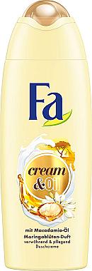 Verwöhnende und pflegende Cremedusche mit Macadamia-Öl und Moringablüten-Duft - Fa Cream&Oil Macadamia Shower Cream — Bild N1