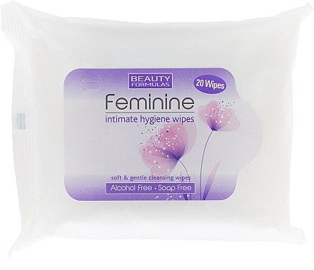 Intim-Pflegetücher mit Aloe Vera 20 St. - Beauty Formulas Feminine Intimate Hygiene Wipes — Bild N1