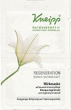 Düfte, Parfümerie und Kosmetik Regenerierende Gesichtsmaske - Kneipp Regeneration Effect Mask