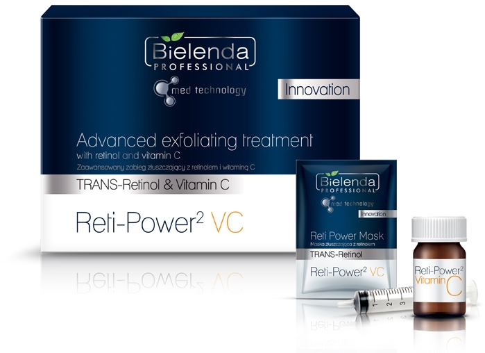 Gesichtspflegeset - Bielenda Professional Advanced Exfoliating Treatment (Gesichtsmaske 5x5ml + Gesichtsserum/5*1g) — Bild N1