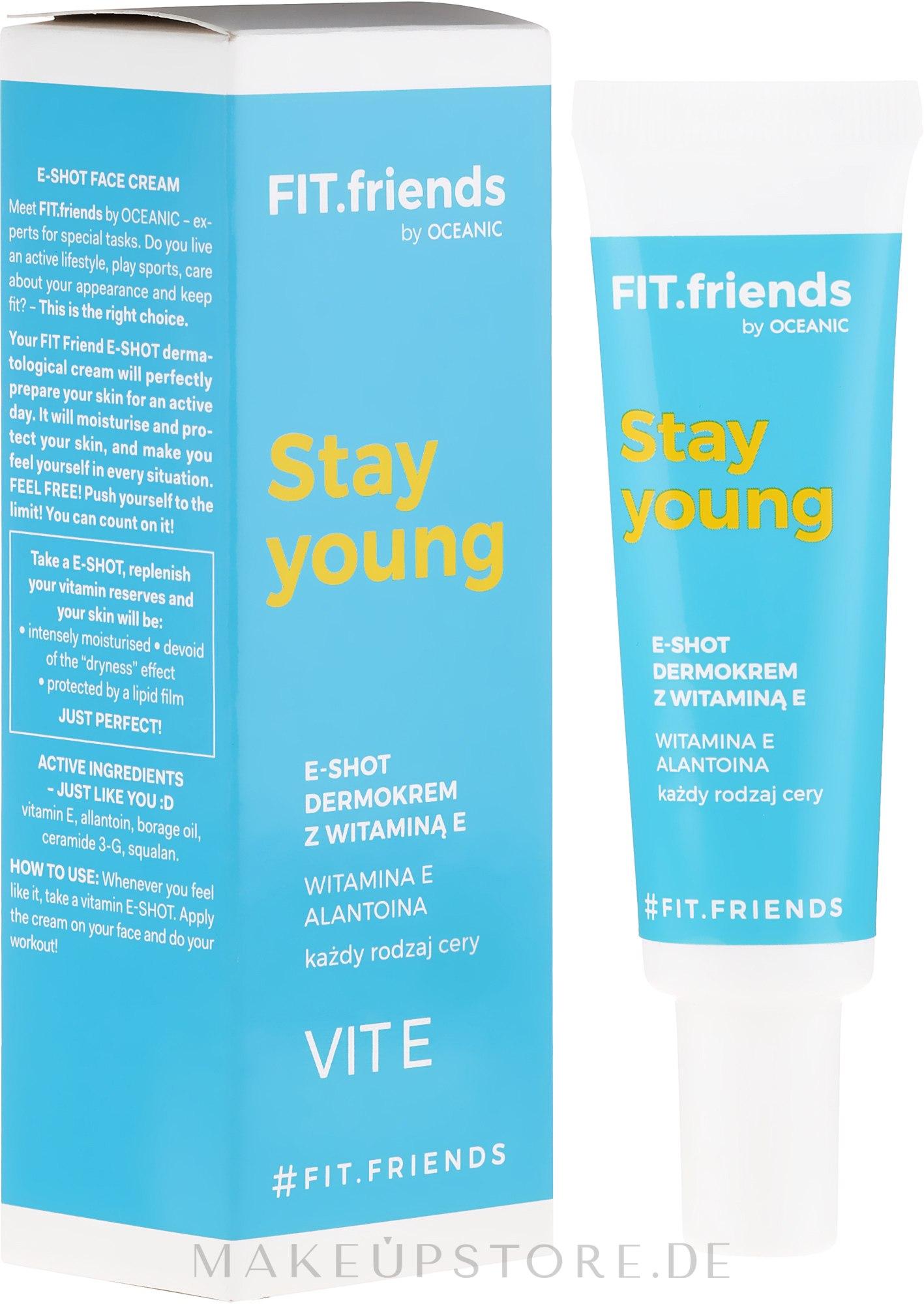 Gesichtscreme mit Vitamin E - AA Fit.Friends Stay Young E-Shot Dermocream — Bild 30 ml
