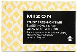 Düfte, Parfümerie und Kosmetik Feuchtigkeitsspendende und pflegende Gesichtsmaske mit Honigextrakt - Mizon Enjoy Fresh On-Time Mask Honey Mask