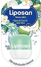 Düfte, Parfümerie und Kosmetik Lippenbalsam Kokoswasser und Aloe Vera - Liposan Pop Ball