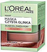 Düfte, Parfümerie und Kosmetik Gesichtspeeling Maske aus reine Tonerde mit Rotalgen-Extrakt - L'Oreal Paris Skin Expert Pure Clay Mask