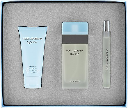 Dolce&Gabbana Light Blue - Duftset (Eau de Toilette 50ml + Körpercreme 50ml + Eau de Toilette 10ml) — Bild N4