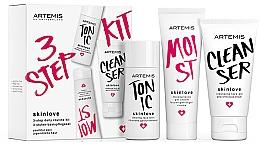 Düfte, Parfümerie und Kosmetik Gesichtspflegeset - Artemis of Switzerland Skinlove 3 Step Daily Routine Kit (Gesichtsgel 30ml + Gesichtstonikum 30ml + Gel-Creme 20ml)