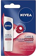 Düfte, Parfümerie und Kosmetik Lippenbalsam - Nivea Lip Care & Color Bordeaux