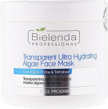 Intensiv feuchtigkeitsspendende Allgen-Gesichtsmaske - Bielenda Professional Program Face Transparent Ultra Hydrating Face Algae Mask — Bild N1