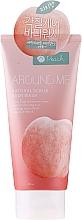 Düfte, Parfümerie und Kosmetik Natürliches Körperpeeling mit Pfirsichextrakt - Welcos Around Me Natural Scrub Body Wash Peach