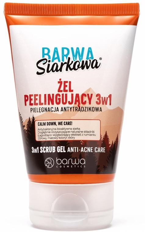 Antibakterielles Peelinggel gegen Akne mit Schwefel 3in1 - Barwa Anti-Acne Sulfuric Gel Scrub — Bild N1