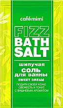 Düfte, Parfümerie und Kosmetik Erfrischendes und tonisierendes Badesalz mit Kirschduft - Cafe Mimi Fizz Bath Salt