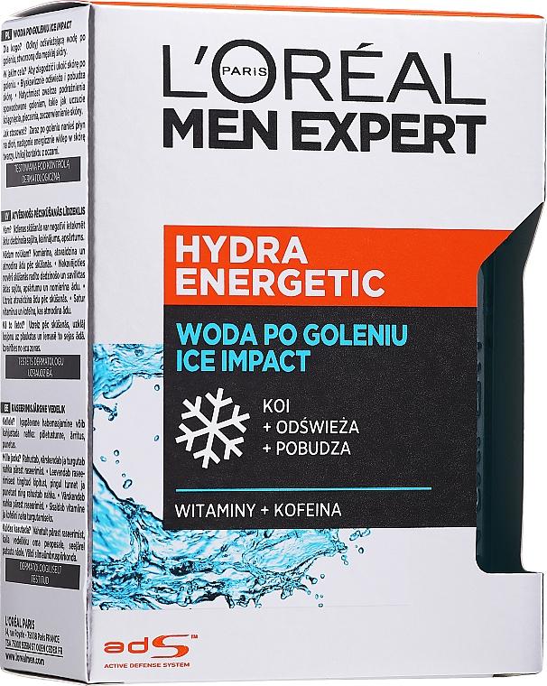 Feuchtigkeitsspendende, beruhigende und energetisierende After Shave Lotion mit Vitaminen und Koffein - L'Oreal Paris Men Expert — Bild N2