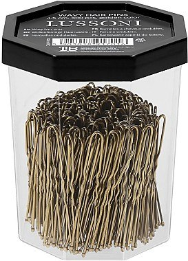 Haarnadeln, gold - Lussoni Wavy Hair Pins 4.5 cm Golden — Bild N2