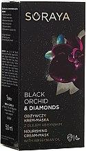 Düfte, Parfümerie und Kosmetik Nährende Crememaske für Gesicht mit Abyssinianöl - Soraya Black Orchid & Diamonds Nourishing Cream-Mask