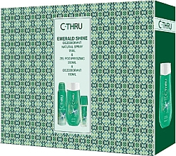 Düfte, Parfümerie und Kosmetik C-Thru Emerald Shine - Körperpflegeset (Deodorant 150ml + Körperspray 75ml + Duschgel 250ml)