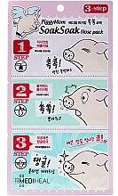Düfte, Parfümerie und Kosmetik 3-Schritt-Gesichtsmaske gegen Mitesser - Mediheal PiggyMom SoakSoak Nose-Pack