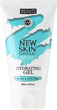 Feuchtigkeitsspendendes Gesichtsgel - Beauty Formulas New Skin Glycolic Hydrating Gel — Bild N1