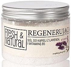 Düfte, Parfümerie und Kosmetik Regenerierendes Badesalz mit Lavendel und Vitamin B5 - Fresh&Natural