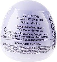 Düfte, Parfümerie und Kosmetik Lippenbutter mit Blaubeeraroma SPF15 - Golden Rose Lip Butter SPF15 Blueberry
