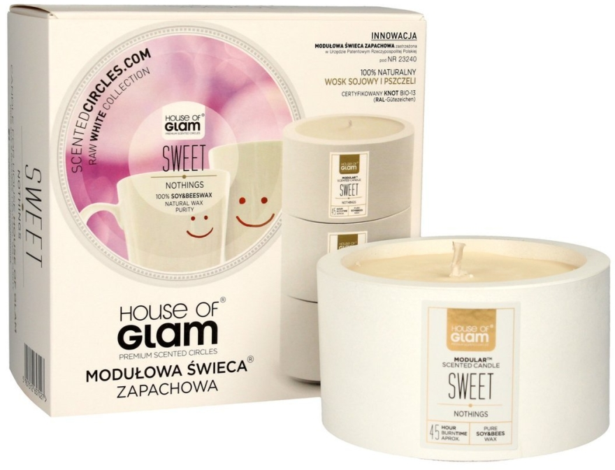Soja-Duftkerze Sweet Nothings - House of Glam Raw White Collection Sweet Nothings Candle  — Bild N1