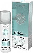 Düfte, Parfümerie und Kosmetik Glättende Anti-Aging Augenkonturcreme mit Tetrapeptiden, Rotalgen und Aktivkohle - Vollare Multi-Active Detox Q10 Eye Cream