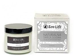 Düfte, Parfümerie und Kosmetik Soja-Duftkerze Cocos - Eco Life Soy Wax Candles