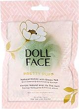 Düfte, Parfümerie und Kosmetik Gesichtsreinigungsschwamm - Doll Face Pretty Puff Natural Konjac With Green Tea Skin Cleansing & Exfoliating Sponge