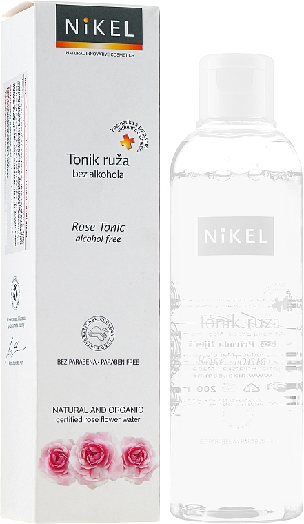 Gesichtswasser mit Bio Rose für normale und trockene Haut - Nikel Rose Tonic — Bild N1