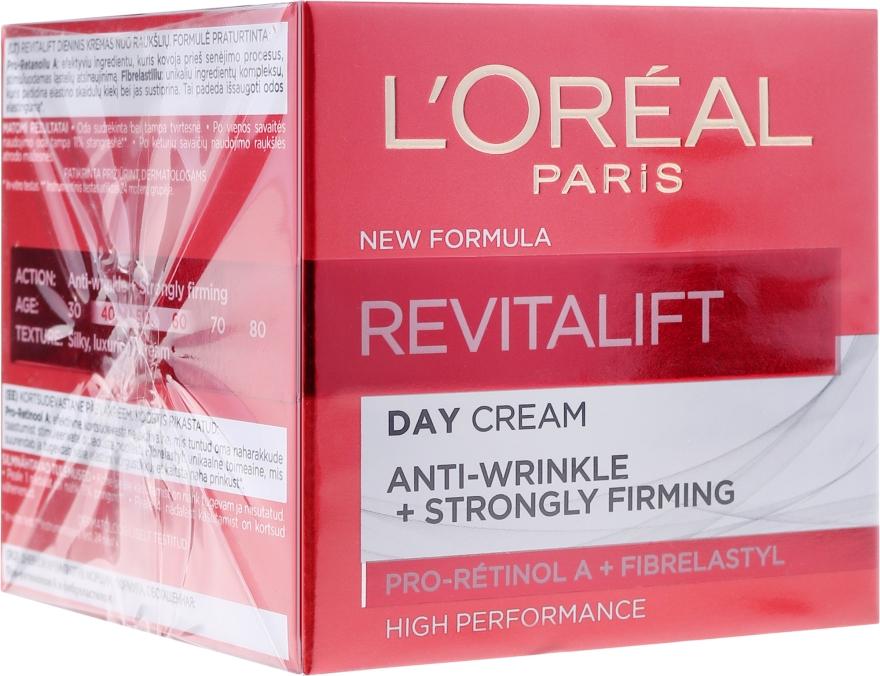 Anti-Falten Tagescreme mit Elastin - L'Oreal Paris Revitalift Anti-Wrinkle + Strongly Firming Day Cream — Bild N1