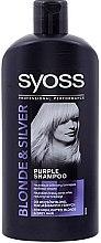 Düfte, Parfümerie und Kosmetik Neutralisierendes Shampoo für blondes und graues Haar - Syoss Blond & Silver Shampoo