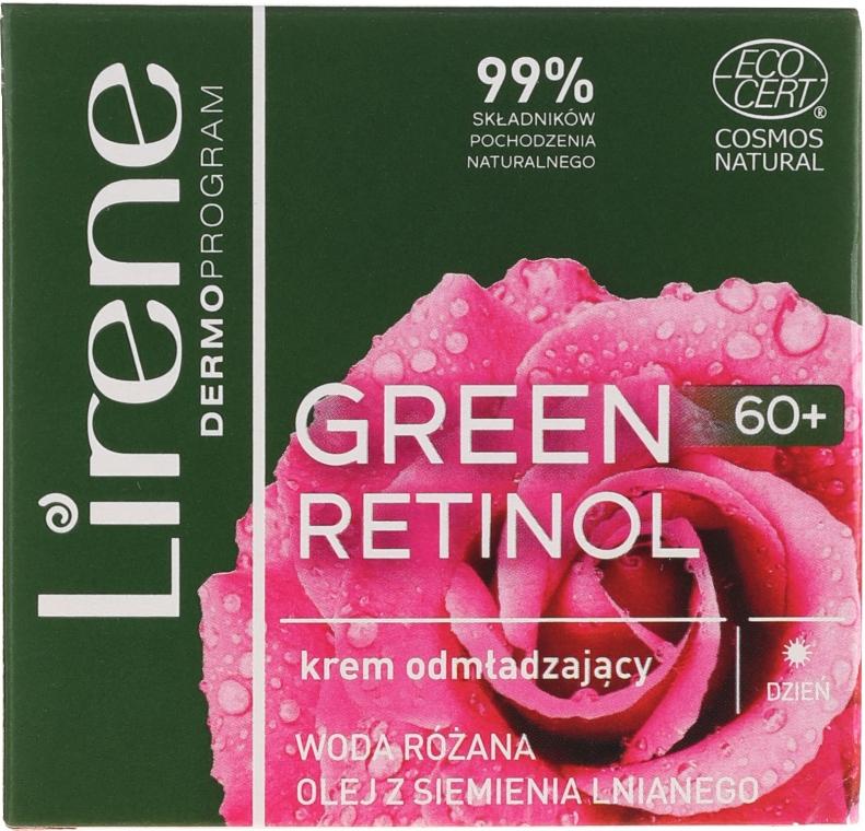 Verjüngende Tagescreme für das Gesicht mit Leinsamenöl und Rosenwasser - Lirene Green Retinol Day Cream