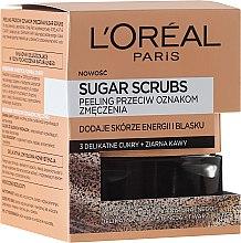 Düfte, Parfümerie und Kosmetik Zucker-Gesichtspeeling gegen müde Haut - L'Oreal Paris Pure-Sugar Resurface & Energize Kona Coffee Scrub