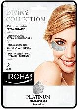 Düfte, Parfümerie und Kosmetik Gesichtspatches mit Hyaluronsäure - Iroha Nature Platinum Patches Extra Glowing Eyes