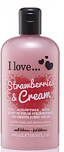 "Düfte, Parfümerie und Kosmetik Badeschaum und Duschcreme ""Strawberries & Cream"" - I Love... Strawberries & Cream Bubble Bath And Shower Creme"