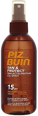 Bräunungsbeschleuniger SPF 15 - Piz Buin Tan&Protect Tan Accelerating Oil Spray SPF15 — Bild N1
