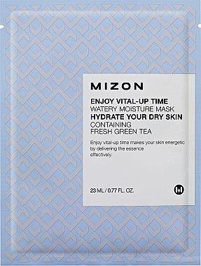 Feuchtigkeitsspendende Gesichtsmaske mit Grüntee-Extrakt - Mizon Enjoy Vital-Up Time Watery Moisture Mask — Bild N1