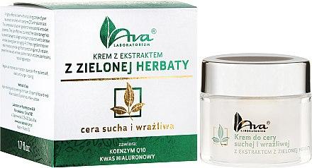 Gesichtscreme mit Grüntee-Extrakt für trockene und empfindliche Haut - Ava Laboratorium Green Tea Cream For Dry And Sensitive Skin — Bild N1