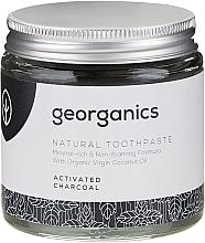 Natürliche und mineralstoffreiche Zahnpasta mit Aktivkohle - Georganics Activated Charcoal Natural Toothpaste — Bild N4