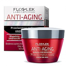 Düfte, Parfümerie und Kosmetik Anti-Aging Nachtcreme mit Hyaluronsäure - Floslek Anti-Aging Kuracja Hialuronowa Night Cream