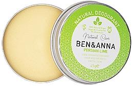 Düfte, Parfümerie und Kosmetik Natürliche Deo-Creme mit Kalk - Ben & Anna Persian Lime Soda Cream Deodorant