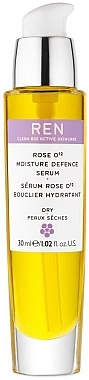 Feuchtigkeitsspendendes Gesichtsserum für trockene und reife Haut - REN Rose O12 Moisture Defence Serum — Bild N1