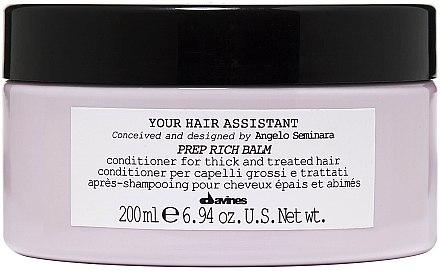 Pflegende Haarspülung - Davines Your Hair Assistant Prep Rich Balm — Bild N1