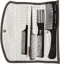 Düfte, Parfümerie und Kosmetik Haarkamm 4 St. - Olivia Garden Carbon