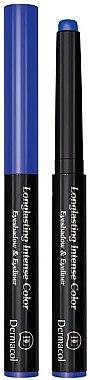 Strahlender Eyeliner und Lidschatten 2in1 - Dermacol Eyeliner And Eyeshadow Long Lasting Intense Colour — Bild N1