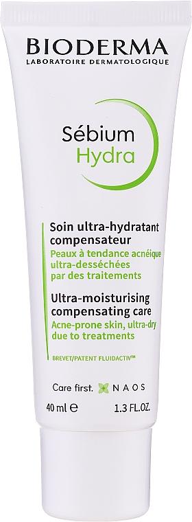 Feuchtigkeitsspendende Gesichtscreme für zu Akne neigende Haut - Bioderma Sebium Hydra Moisturising Cream — Bild N1