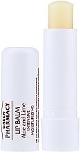 Düfte, Parfümerie und Kosmetik Intensiv feuchtigkeitsspendender Lippenbalsam mit Aloe und Limette SPF 10 - Green Pharmacy Lip Balm With Aloe And Lime